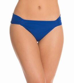 Sunsets Swimwear Solid Side Shirred Bikini Bottom