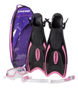Cressi Palau Bag Mask, Snorkel, and Fin Set