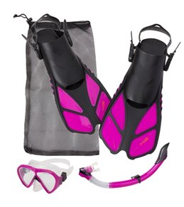 Cressi Bonete Bag Mask, Snorkel, and Fin Set