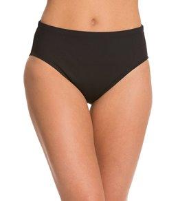 La Blanca Core Solid Hi-Waist Pant Bikini Bottom
