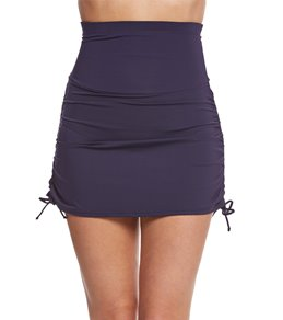 Anne Cole Color Blast Solids Super High Waist Swim Skirt