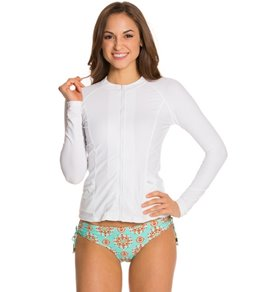 Cabana Life Essentials Solid Zip-Up Rashguard