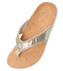 Spenco Women's Yumi Metallic Flip Flop