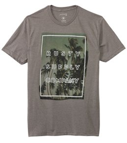 Rusty Men's Adult Crash Short Sleeve Tee