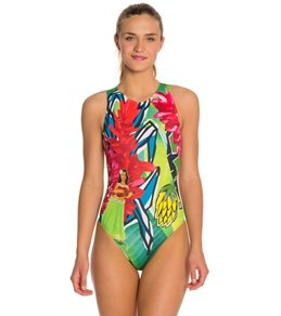 HARDCORESPORT Women's Hula Water Polo One Piece Swimsuit