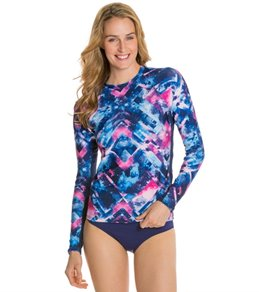 EQ Swimwear Diamond Blue Long Sleeve Rash Guard