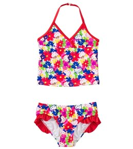 Hello Kitty Girls' Poppy Petals Tankini Two Piece Set (12mos-24mos)