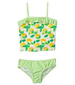 Kensie Girl Fresh Direct Lemon Tankini Two Piece Set (4yrs-6X)