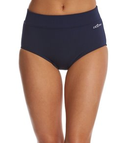 Dolfin Solid High Waisted Conservative Cut Brief Swimsuit