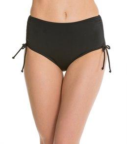 Caribbean Joe Solid Tummy Control Adjustable Bikini Bottom