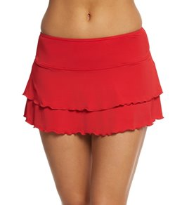 Sporti Solid Polyester Cover Up Swim Skirt