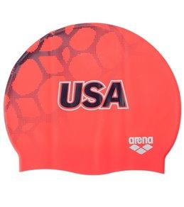 Arena USA Swimming Silicone Swim Cap
