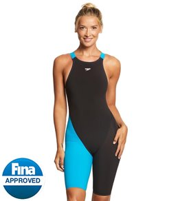 Speedo LZR Racer Pro Recordbreaker Kneeskin Tech Suit Swimsuit with Comfortstrap