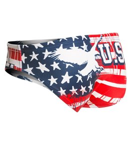 Turbo Men's USA Eagle Water Polo Brief