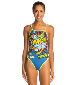 Turbo OMG Thin Strap One Piece Swimsuit