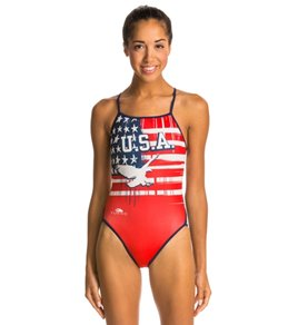Turbo USA Eagle Thin Strap One Piece Swimsuit