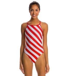 Splish Candy Thin Strap One Piece Swimsuit