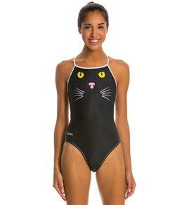Splish Meow Thin Strap One Piece Swimsuit