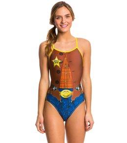 Splish Sheriff Thin Strap One Piece Swimsuit