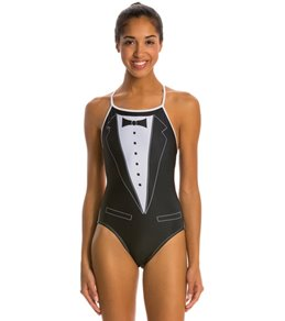 Splish Tuxedo Thin Strap One Piece Swimsuit