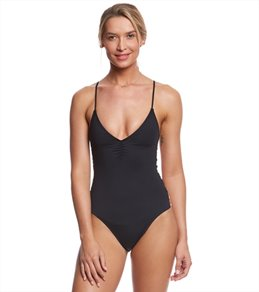 L-Space Swimwear Solid Wild Side One Piece Swimsuit