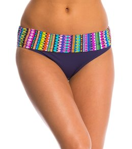 Anne Cole Desert Diamonds Foldover Mid-Rise Bikini Bottom