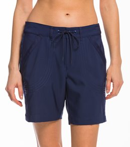 b75620277630 Jag Women's Solid Core Rolled Walking Boardshort