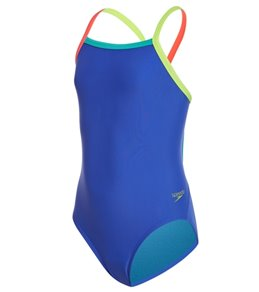 Speedo Youth Solid Propel Back One Piece Swimsuit