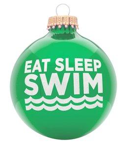 bay six eat sleep swim ornament