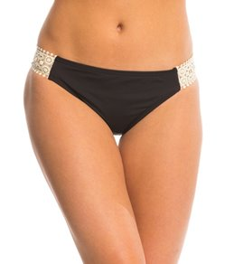 Kenneth Cole Reaction The Ruffle Shuffle Crochet Tab Bikini Bottom