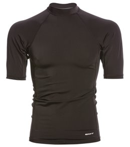 Sporti Men's Solid S/S UPF 50+ Sport Fit Rash Guard