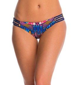 Red Carter Dream Catcher Reversible Strappy Hipster Bikini Bottom