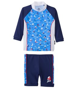 Platypus Boys' UPF 50+ Regatta L/S Baby Rash Guard Set (6-24 months)