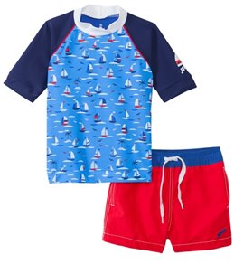 Platypus Boys' UPF 50+ Regatta S/S Rash Guard Set (6mos-8yrs)