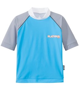 Platypus Boys' UPF 50+ Graphic Waves S/S Rash Guard (7yrs-14yrs)