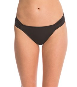 Sunsets Solid Side Shirred Bikini Bottom