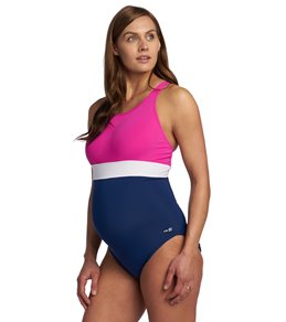 8cc226f70beb3 EQ Swimwear Banded Harmony Maternity One Piece Swimsuit