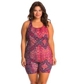 EQ Swimwear Plus Size Spectrum Unitard Swimsuit