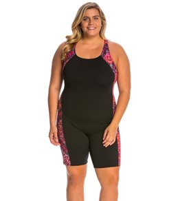 EQ Swimwear Plus Size Glide Unitard Swimsuit