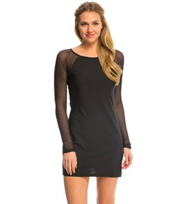 DKNY Mesh Effect Scuba Cover Up Dress