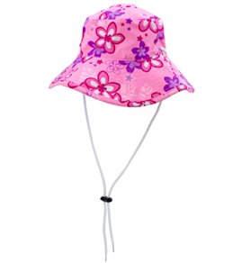 Tuga Girls' Plumeria Passion UPF 50+ Bucket Hat