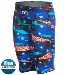 TYR Limited Edition Avictor Omaha Nights Male High Short Jammer Tech Suit Swimsuit