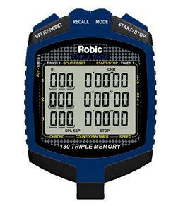 Robic SC-899 Triple Timer Stopwatch, Speed and Countdown