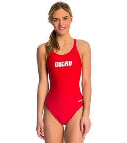 Dolfin Female Lifeguard 3 Logo HP Back One Piece Swimsuit