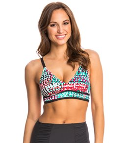 PBSport Pick a Dot Sweetheart Neck Bikini Top