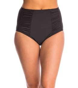 PBSport Finishing Touches High Waist Shirred Insert Bikini Bottom