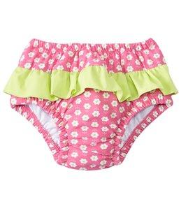 iPlay Girls' Classic Ruffle Swimsuit Bottom w/Built-in Swim Diaper (6mos-3T)