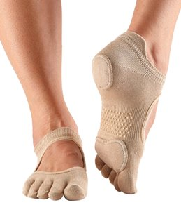 Toesox Prima Bellarina Full-Toe Grip Socks