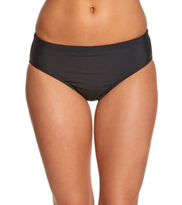 Athena Landa Cabana Solid Mid Waist Bikini Bottom