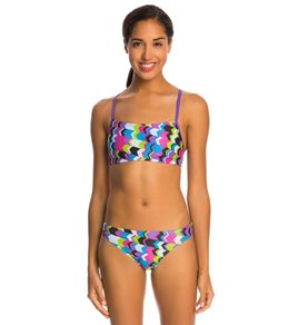 Speedo Flipturns Geo Playtime Printed Two Piece Bikini Swimsuit Set